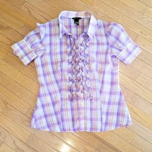 Indian Style Inspired Summer Blouse with Ruffles
